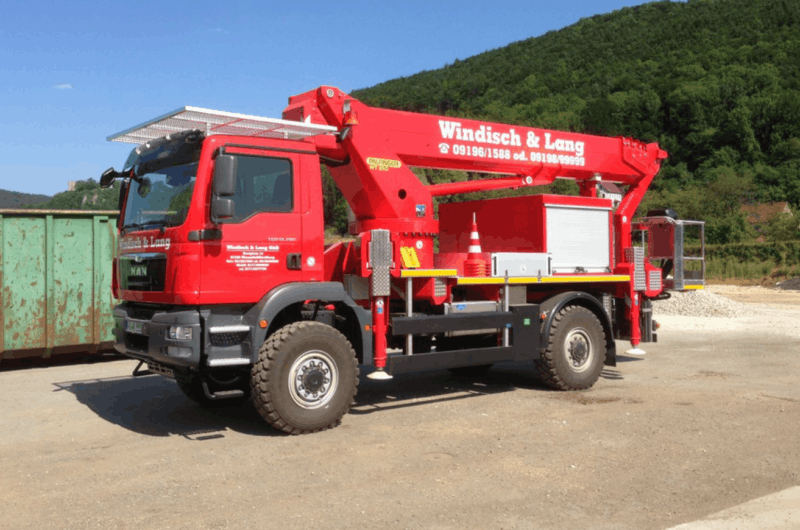 Hubarbeitsbühne WT350 mit MAN 18.290 Fahrgestell - allrad