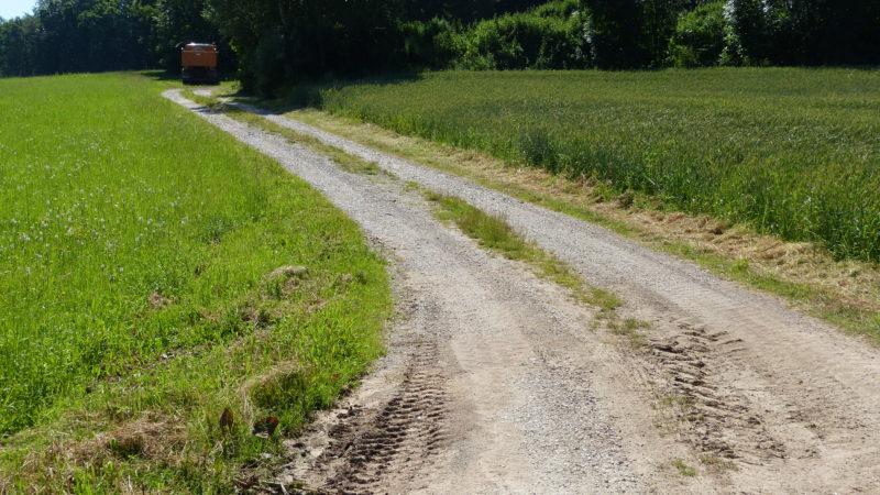 Feldweg vor Wegpflege mit HEN WPF 200/Fendt 930