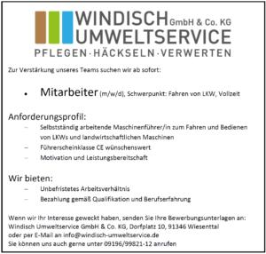 Stellenanzeige_Windisch_Umweltservice